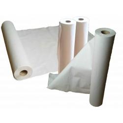 Caja de 6 rollos de papel camilla, precorte 0,58x70 m. blanco