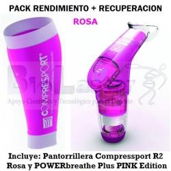 Pack Rendimiento+Recuperación ROSA con Pantorrillera T1 y PB Pink Competicion