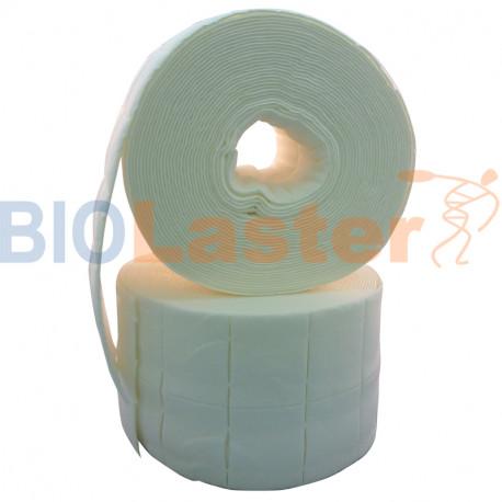 Apósitos de celulosa precortada 4x5cm. 2 rollos de 500 uds