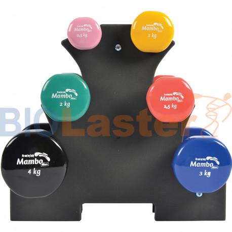 MSD Soporte pesas / mancuernas de vinilo