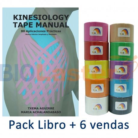 Pack Libro Kin80 + 6 Vendas Colores