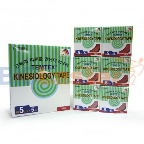 Temtex Kinesiology Tape 5x5 . 6 Uds.