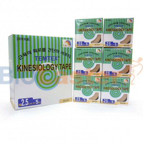 Kinesiology Tape 2,5x5 Beige 12 Uds