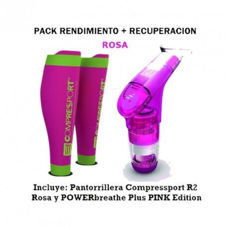 Pack performance + récupération rose avec Manchon de mollets et PB sport
