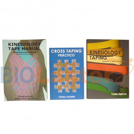 Conjunto de 3 Libros - 2 Kinesiotape + 1 Cross Taping