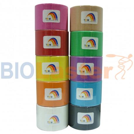 Temtex Kinesiology Tape 5x5 Colores Variados 6 Uds