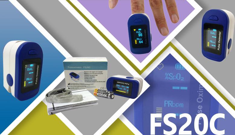 Nuevo pulsioxímetro de Dedo, FS20C